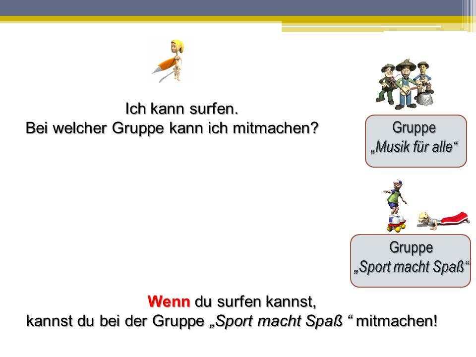 """kannst du bei der Gruppe """"Sport macht Spaß mitmachen!"""