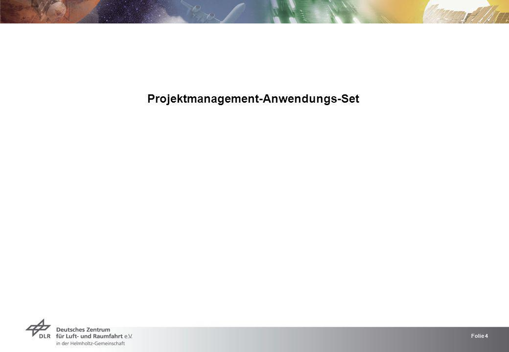 Projektmanagement-Anwendungs-Set