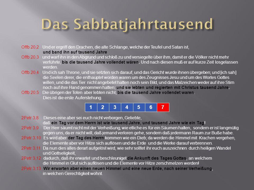 Das Sabbatjahrtausend