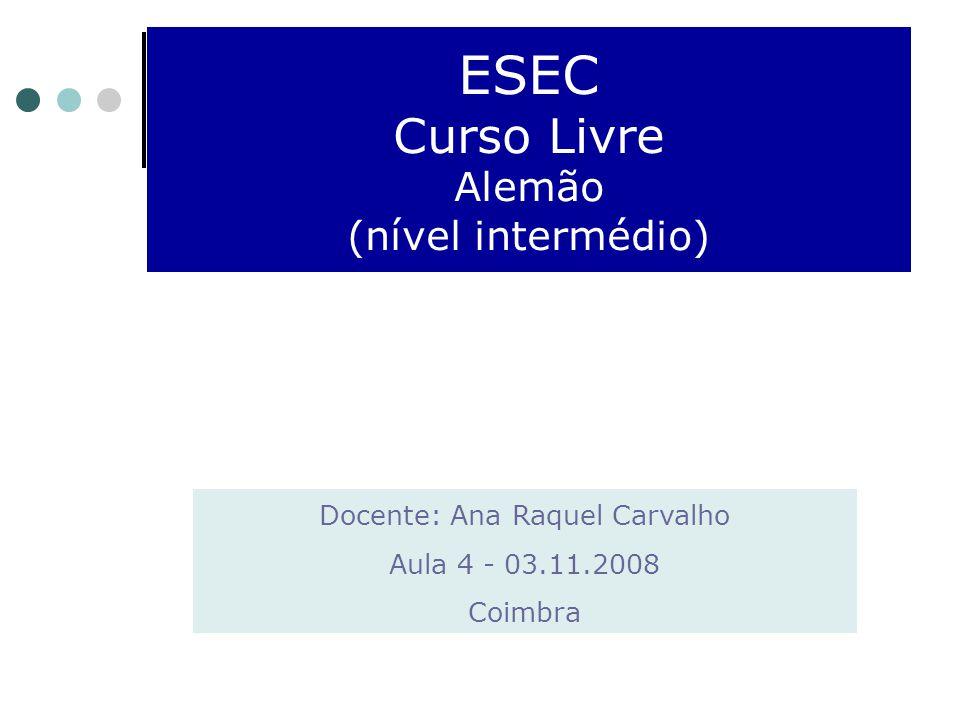 ESEC Curso Livre Alemão (nível intermédio)