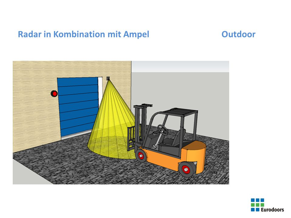Radar in Kombination mit Ampel Outdoor