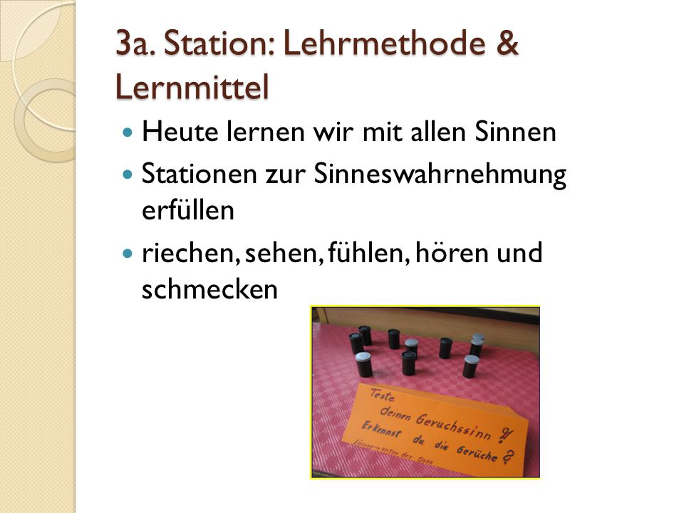3a. Station: Lehrmethode & Lernmittel