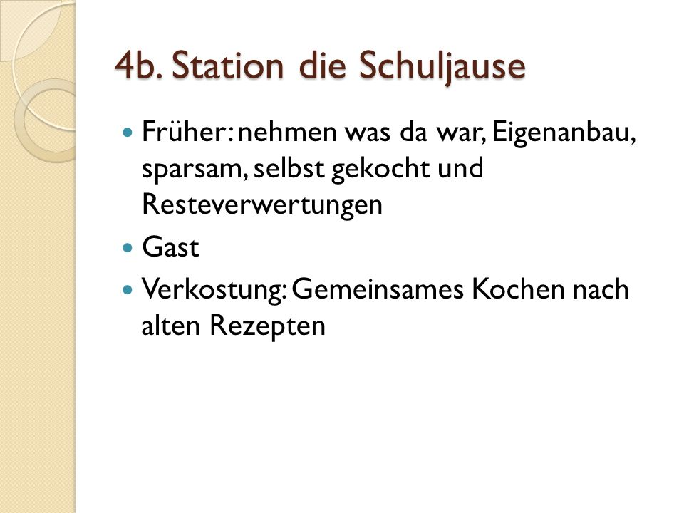 4b. Station die Schuljause