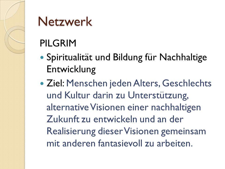 Netzwerk PILGRIM Spiritualität und Bildung für Nachhaltige Entwicklung