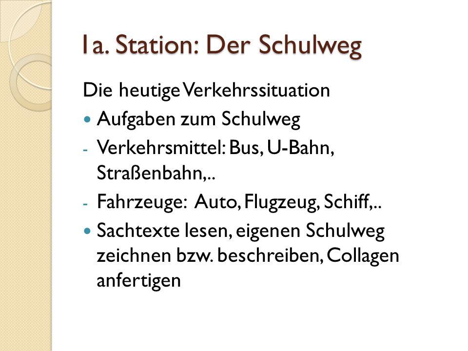 1a. Station: Der Schulweg