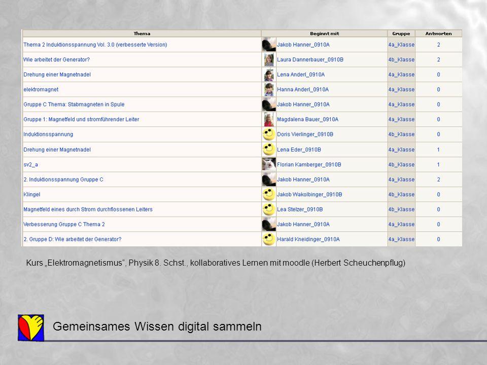 Gemeinsames Wissen digital sammeln