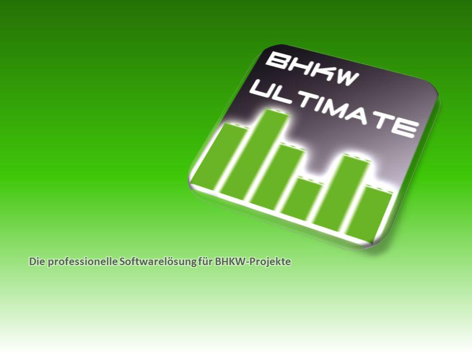 Die professionelle Softwarelösung für BHKW-Projekte