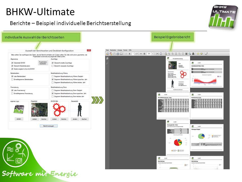 BHKW-Ultimate Berichte – Beispiel individuelle Berichtserstellung