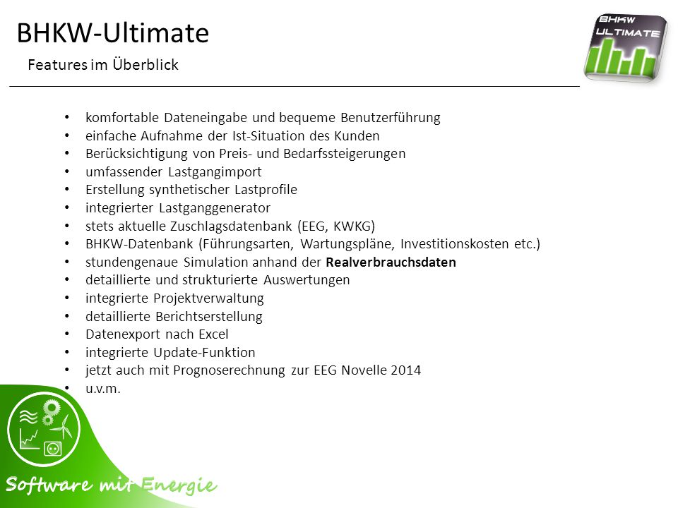 BHKW-Ultimate Features im Überblick