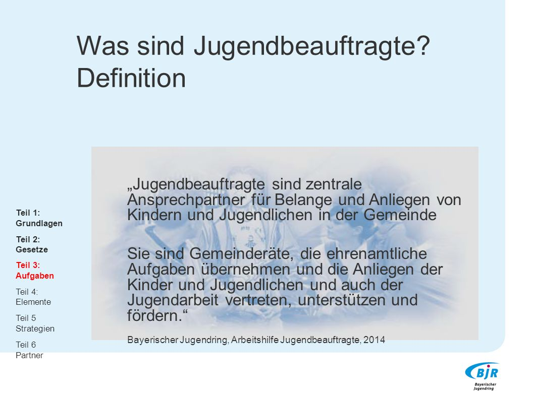 Was sind Jugendbeauftragte Definition