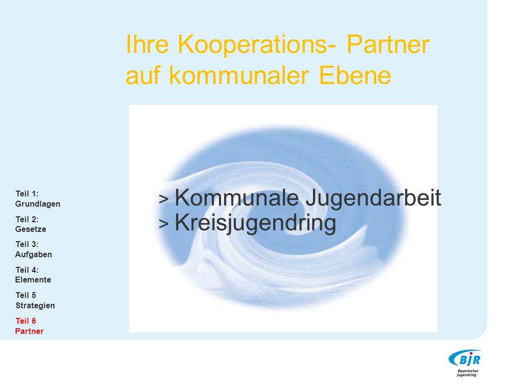 Ihre Kooperations- Partner auf kommunaler Ebene