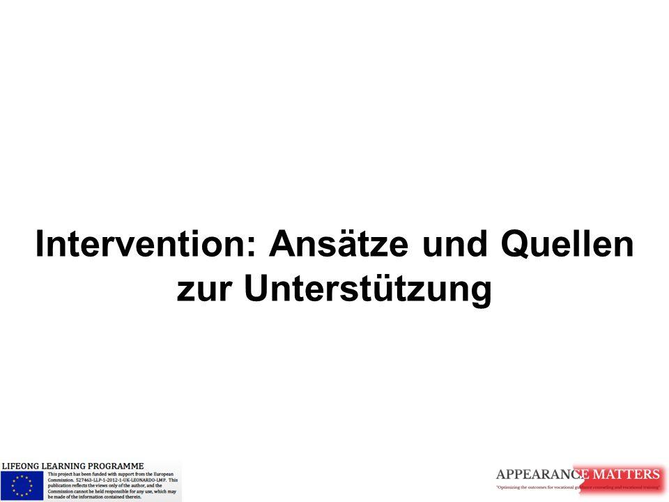 Intervention: Ansätze und Quellen zur Unterstützung