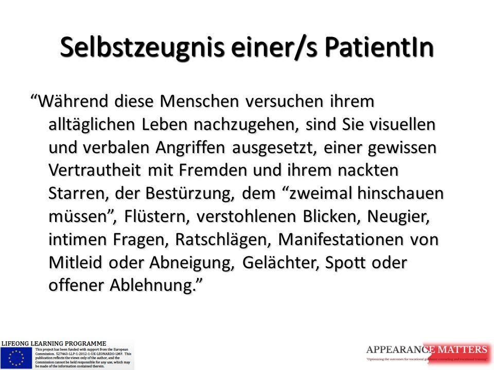 Selbstzeugnis einer/s PatientIn