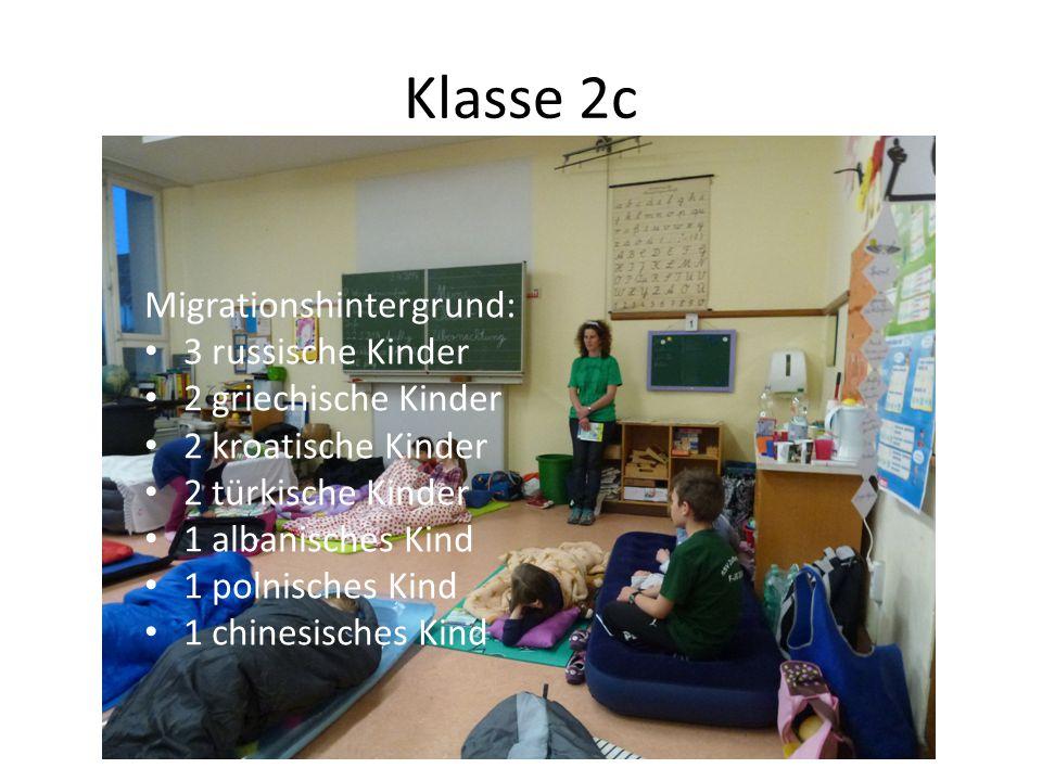 Klasse 2c Migrationshintergrund: 3 russische Kinder