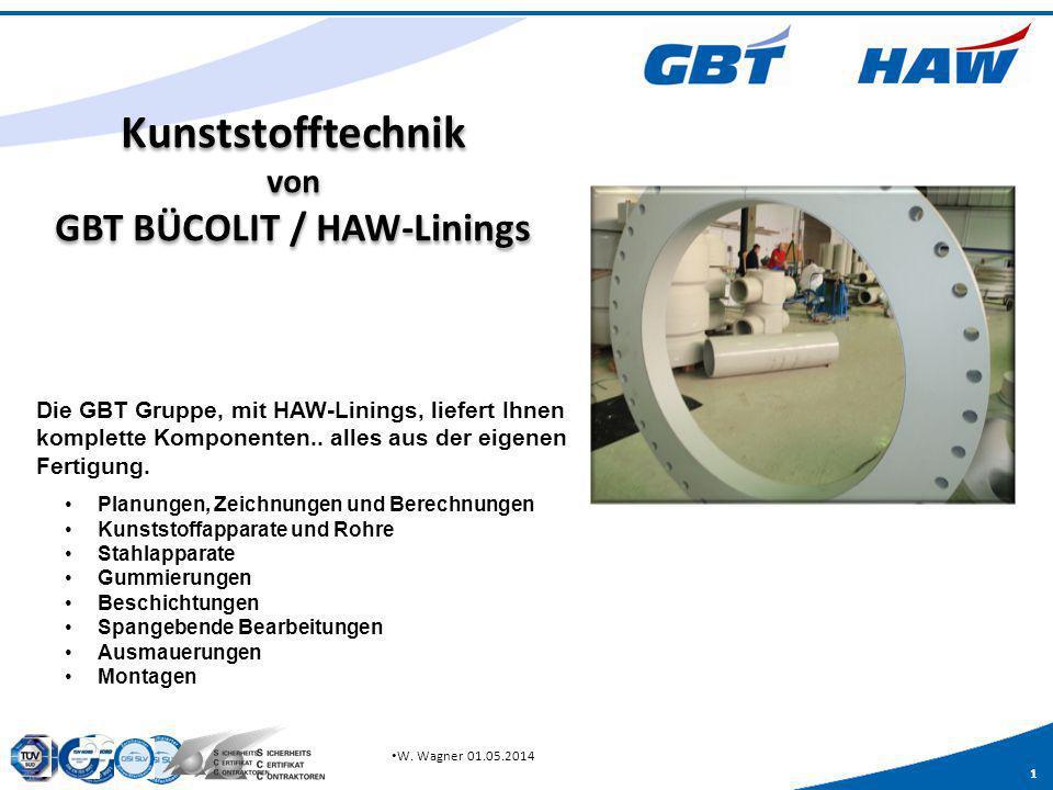 Kunststofftechnik von GBT BÜCOLIT / HAW-Linings
