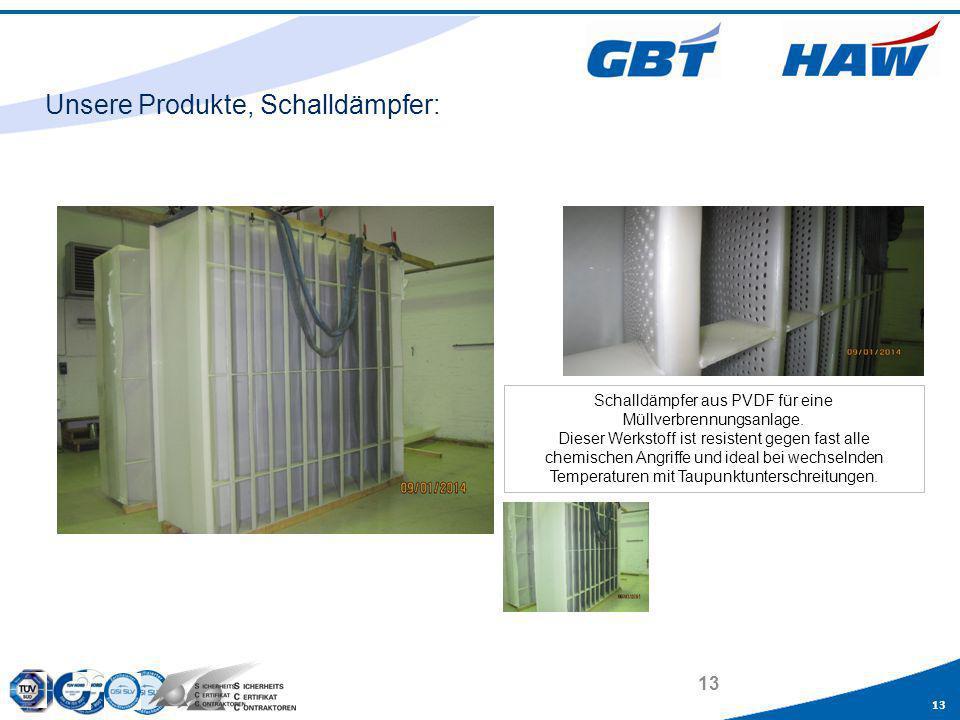 Unsere Produkte, Schalldämpfer: