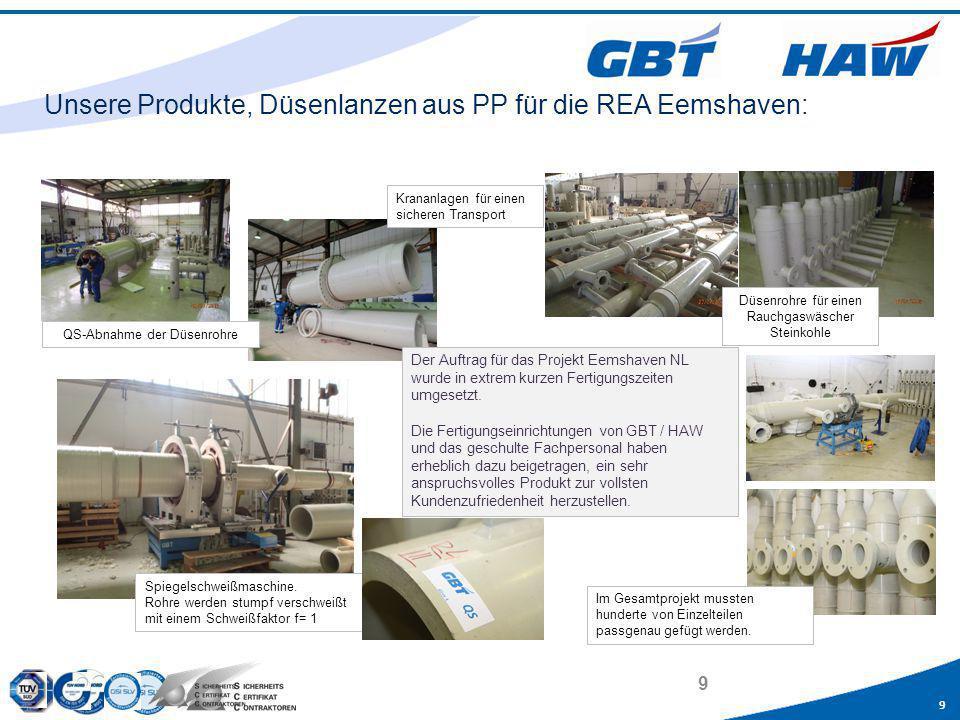 Unsere Produkte, Düsenlanzen aus PP für die REA Eemshaven: