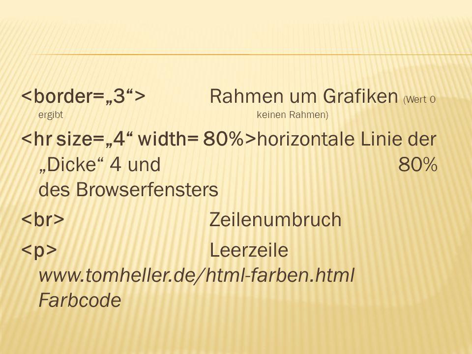 """<border=""""3 > Rahmen um Grafiken (Wert 0 ergibt keinen Rahmen)"""