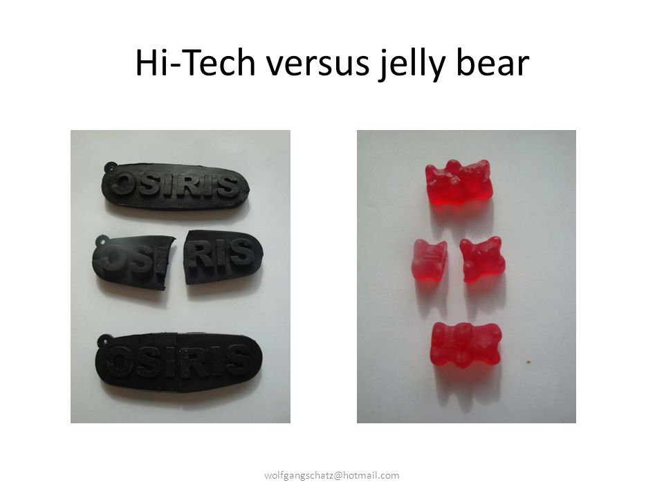 Hi-Tech versus jelly bear