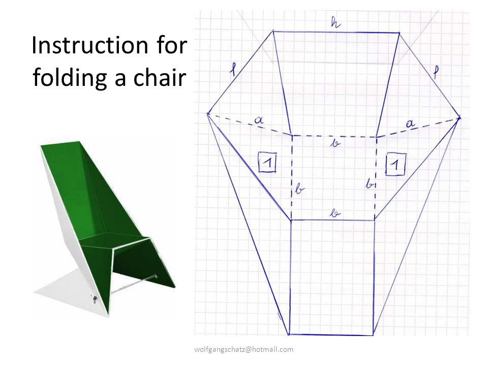 Instruction for folding a chair