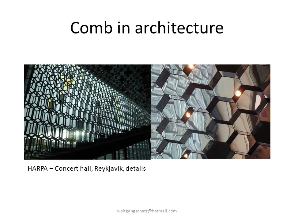 Comb in architecture HARPA – Concert hall, Reykjavik, details
