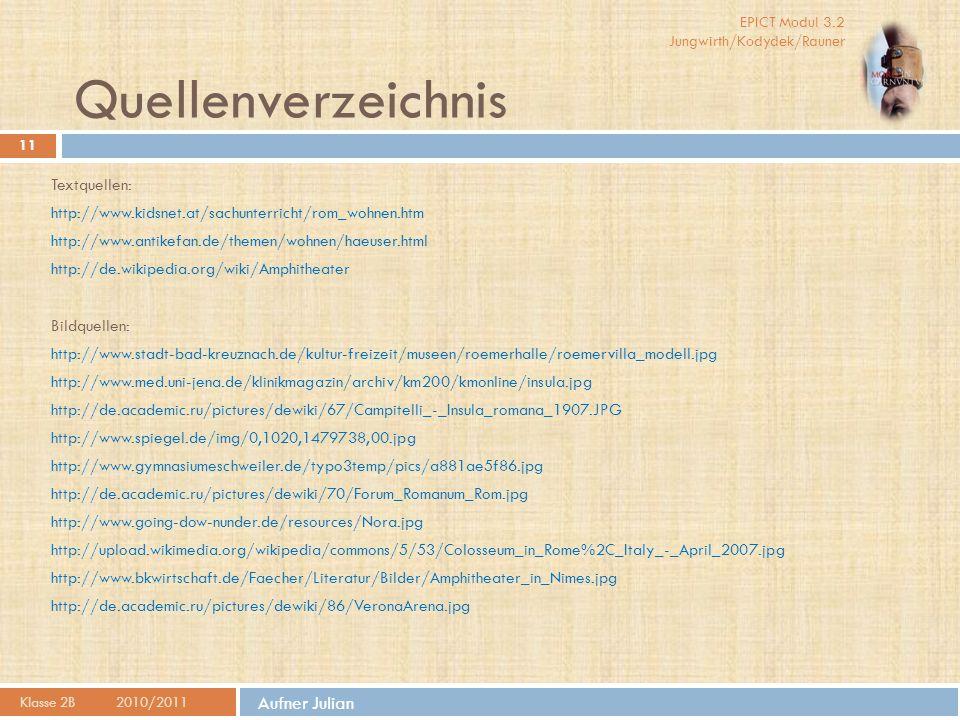 Quellenverzeichnis Aufner Julian Textquellen: