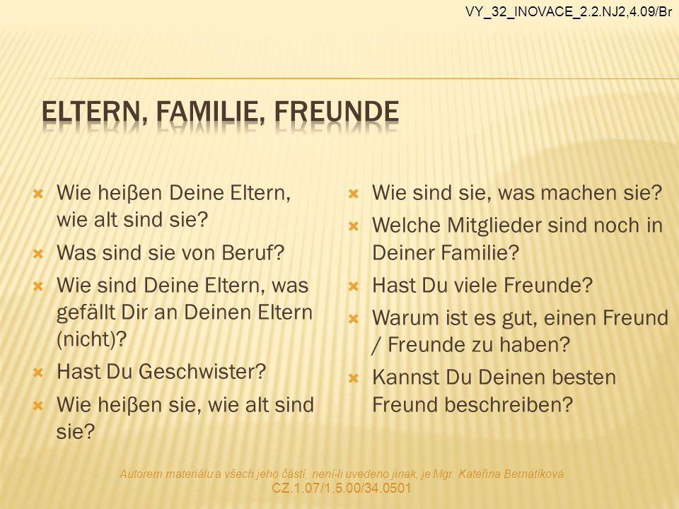 Eltern, Familie, Freunde