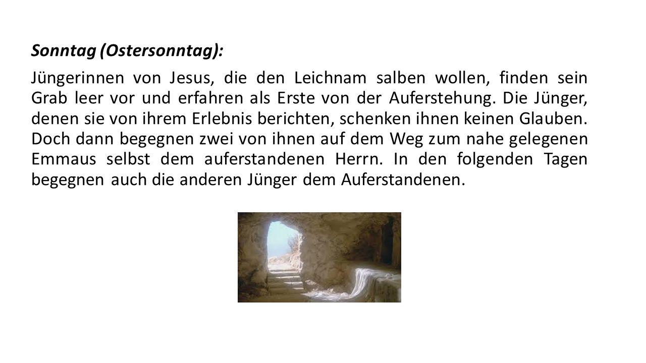 Sonntag (Ostersonntag):