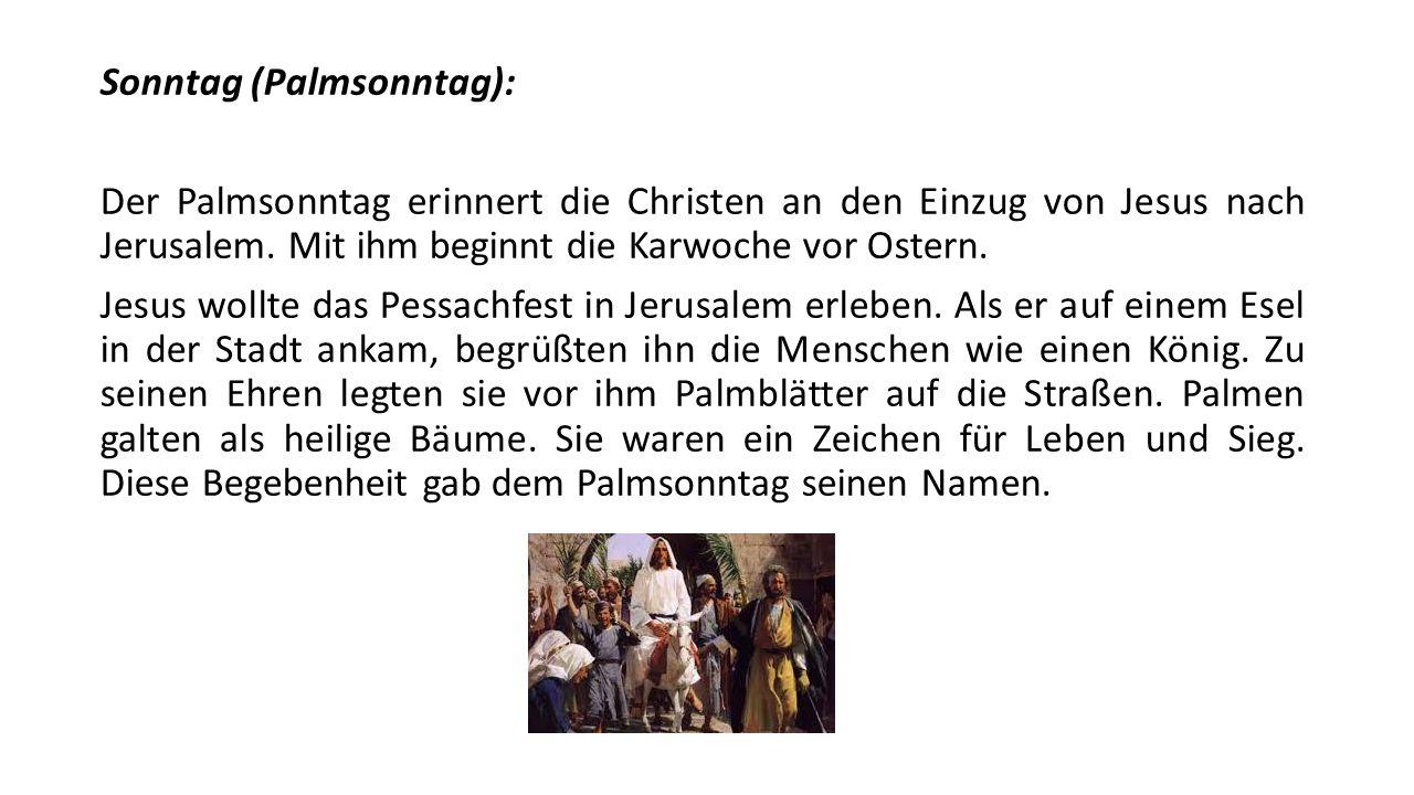 Sonntag (Palmsonntag):