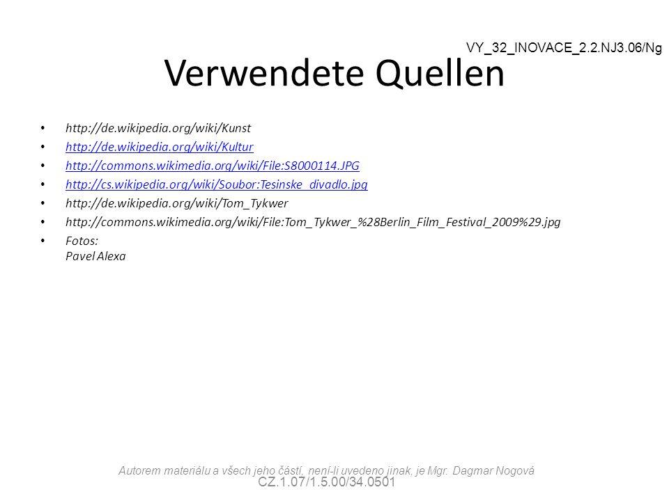 Verwendete Quellen VY_32_INOVACE_2.2.NJ3.06/Ng