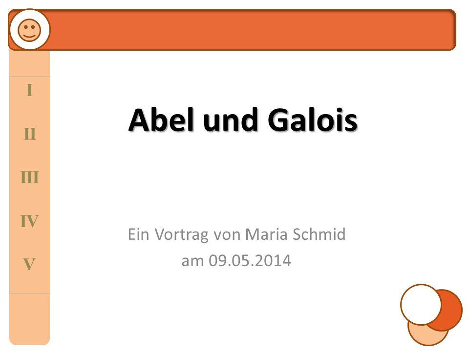 Ein Vortrag von Maria Schmid am 09.05.2014