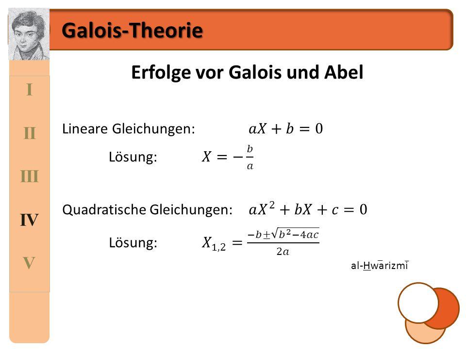Erfolge vor Galois und Abel