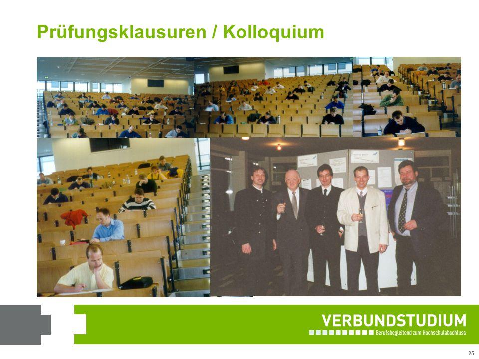 Prüfungsklausuren / Kolloquium