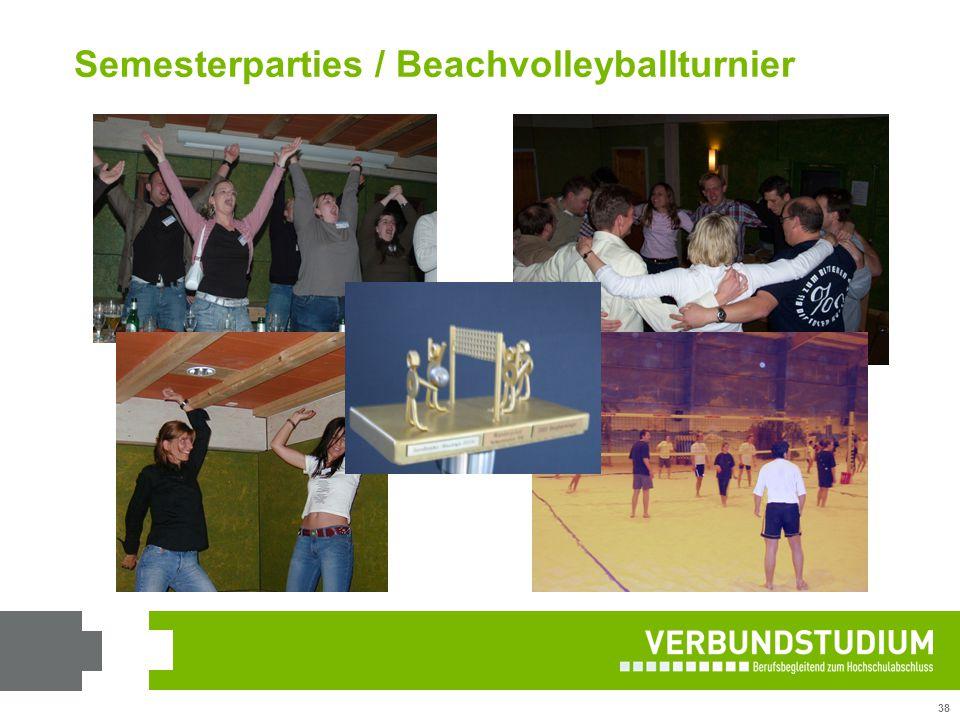 Semesterparties / Beachvolleyballturnier