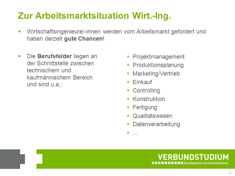 Zur Arbeitsmarktsituation Wirt.-Ing.