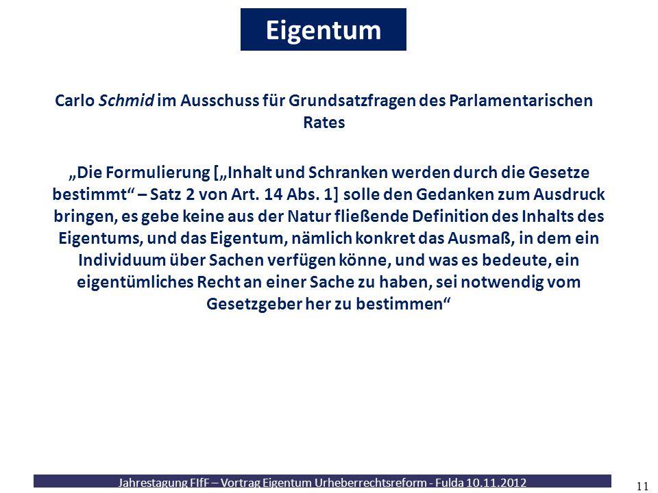 Eigentum Carlo Schmid im Ausschuss für Grundsatzfragen des Parlamentarischen Rates.