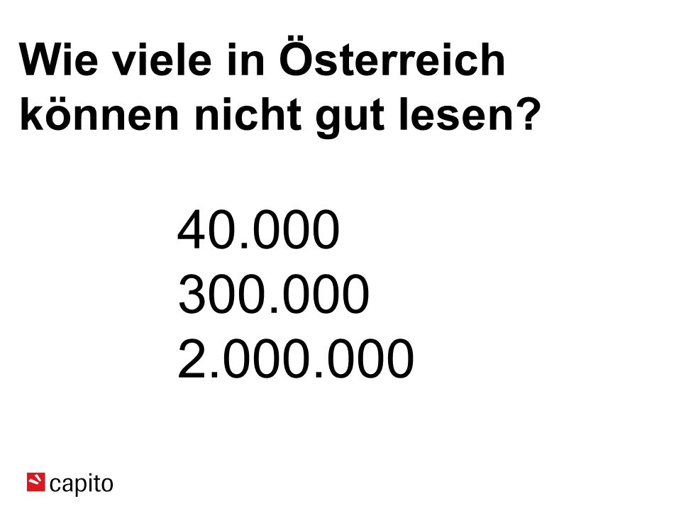 Wie viele in Österreich können nicht gut lesen