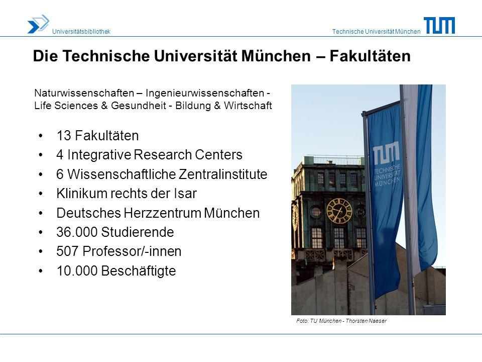 Die Technische Universität München – Fakultäten