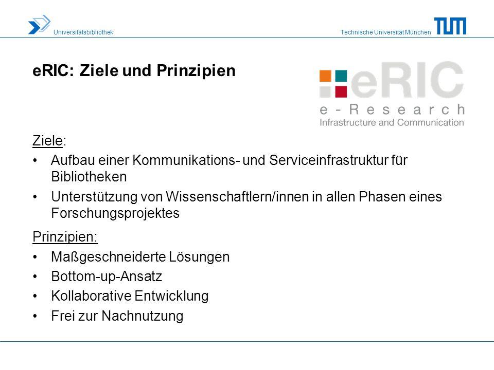 eRIC: Ziele und Prinzipien