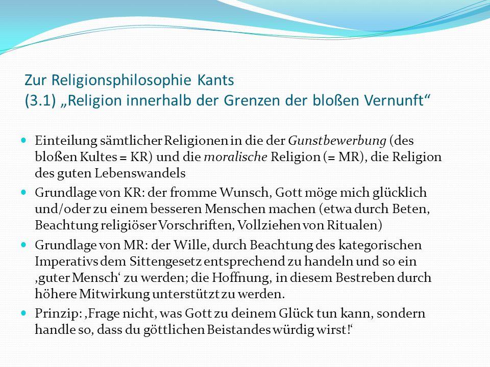 Zur Religionsphilosophie Kants (3