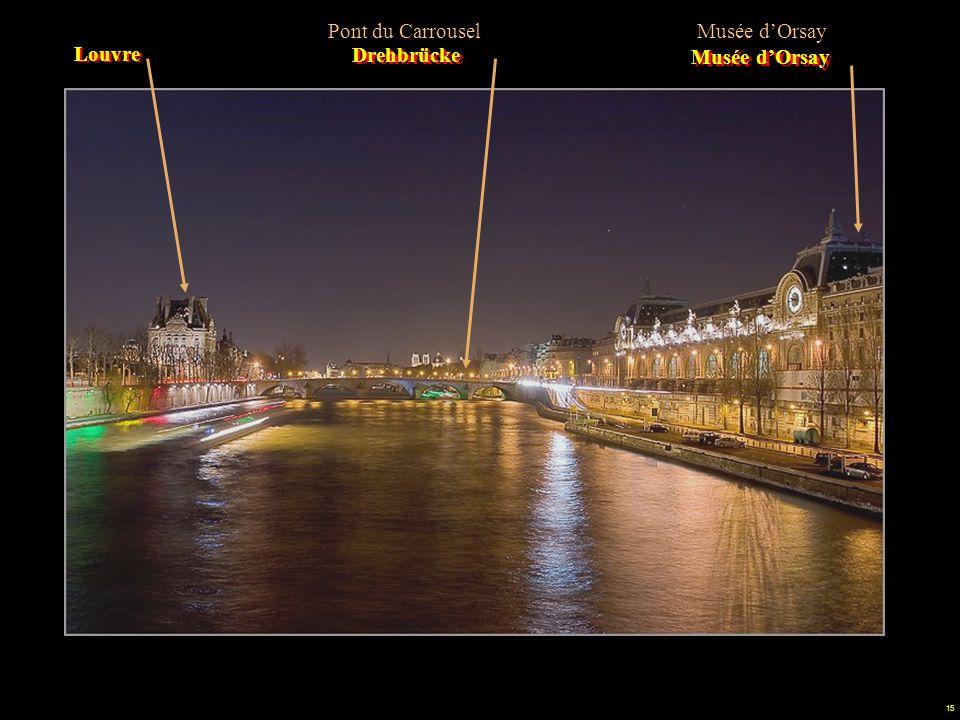 Pont du Carrousel Musée d'Orsay Louvre Drehbrücke Musée d'Orsay