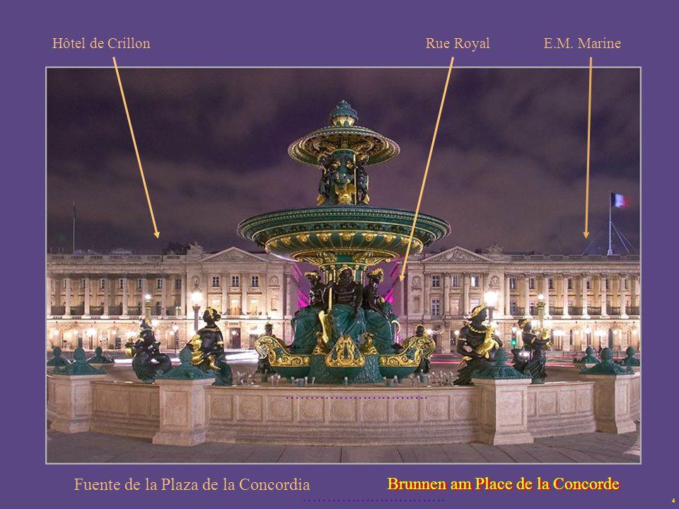 Fuente de la Plaza de la Concordia Brunnen am Place de la Concorde