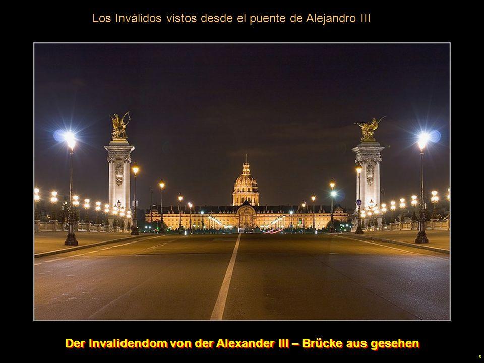 Der Invalidendom von der Alexander III – Brücke aus gesehen