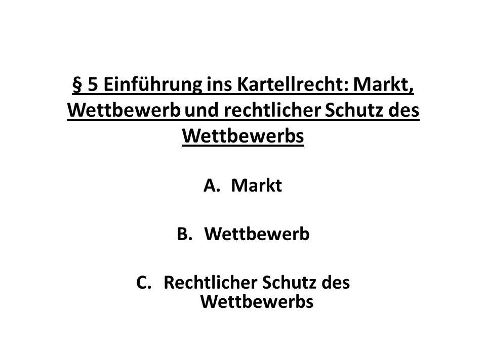 Markt Wettbewerb Rechtlicher Schutz des Wettbewerbs