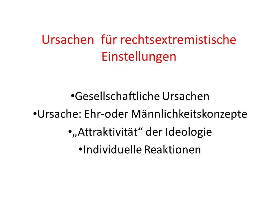 Ursachen für rechtsextremistische Einstellungen