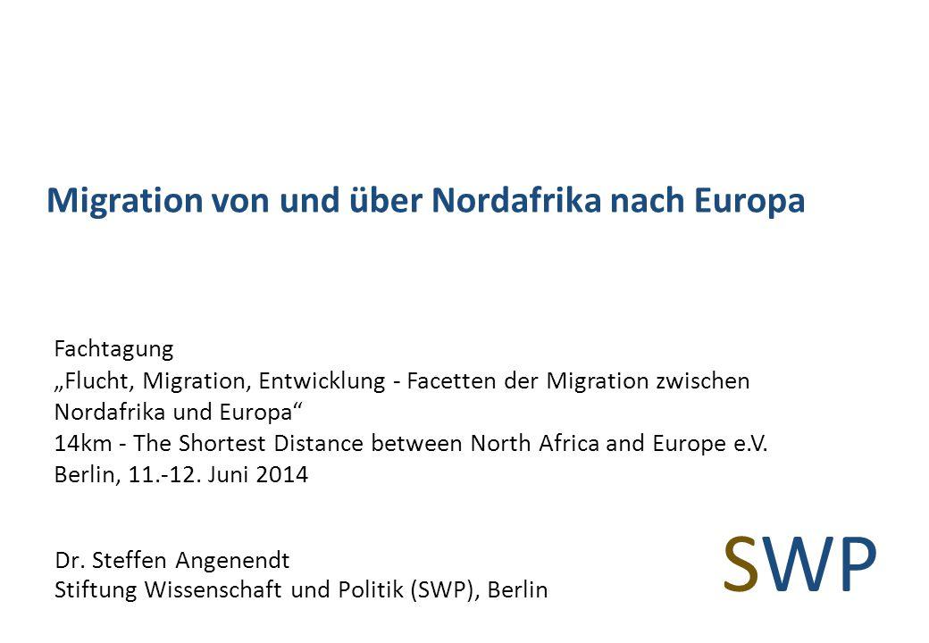 Migration von und über Nordafrika nach Europa