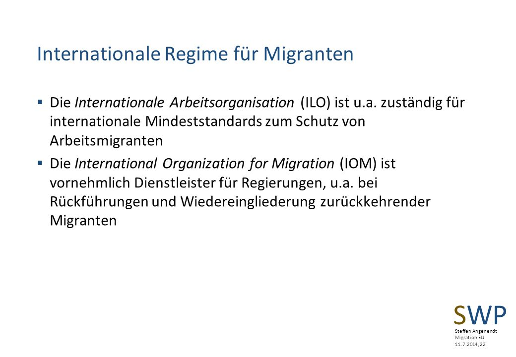 Internationale Regime für Migranten