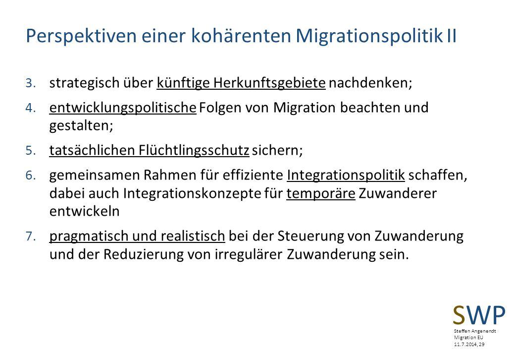 Perspektiven einer kohärenten Migrationspolitik II