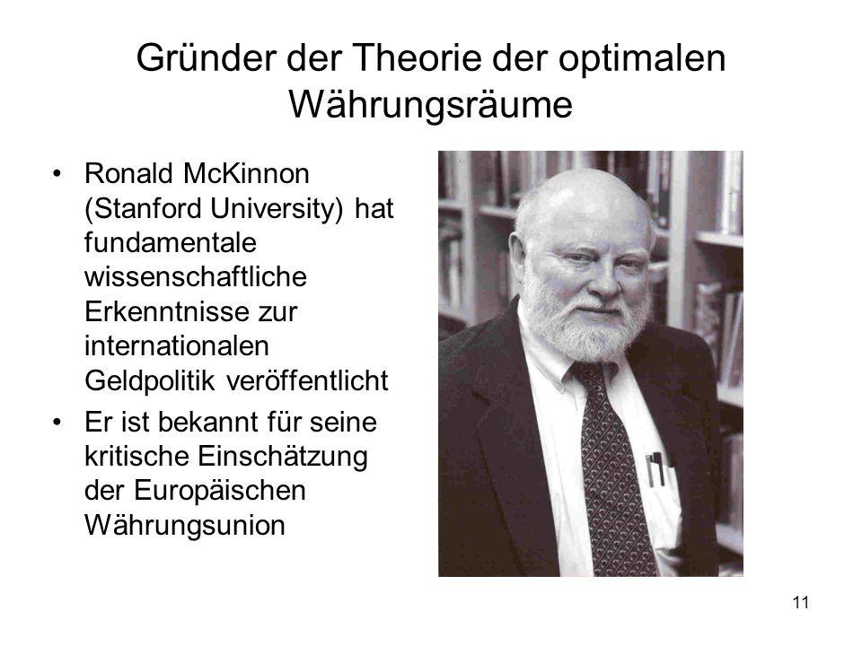 Gründer der Theorie der optimalen Währungsräume