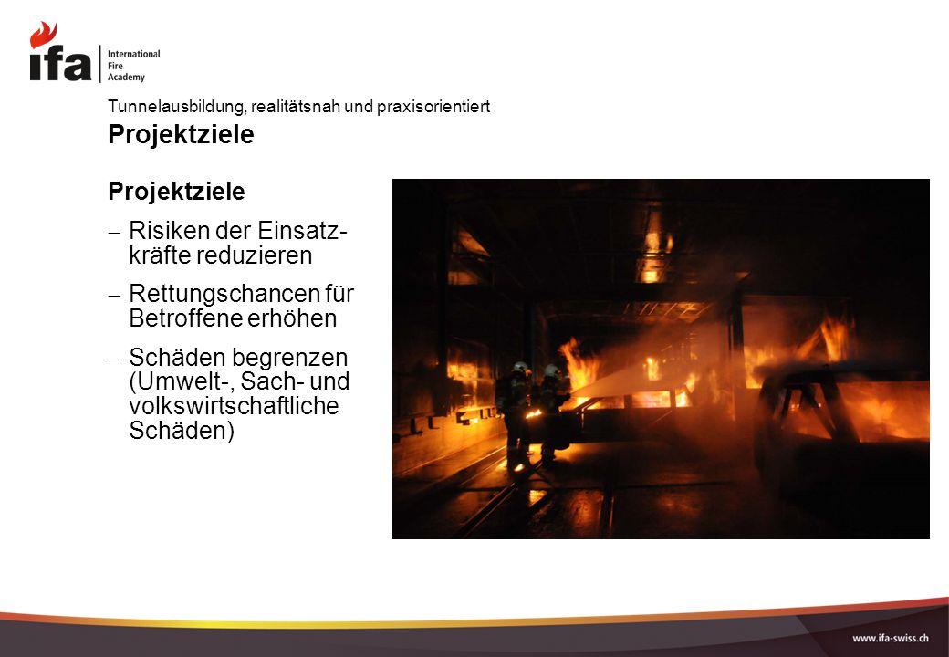 Projektziele Projektziele Risiken der Einsatz- kräfte reduzieren